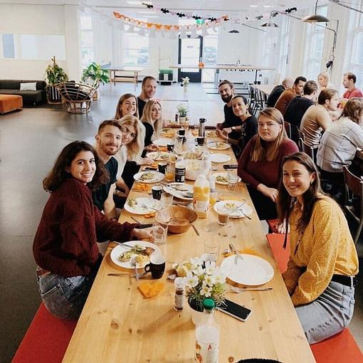 Breakfast in our PR agency in Amsterdam.