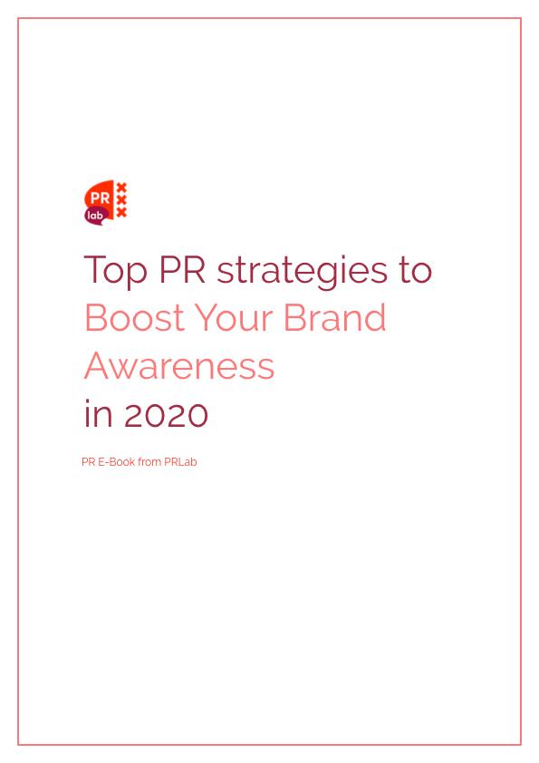 Cover voor ebook Top PR strategieen om je merkbekendheid een boost te geven in 2020