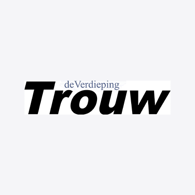 Logo of Trouw, a media outlet where our PR agency for startups in Europe get regularly achieves coverage.