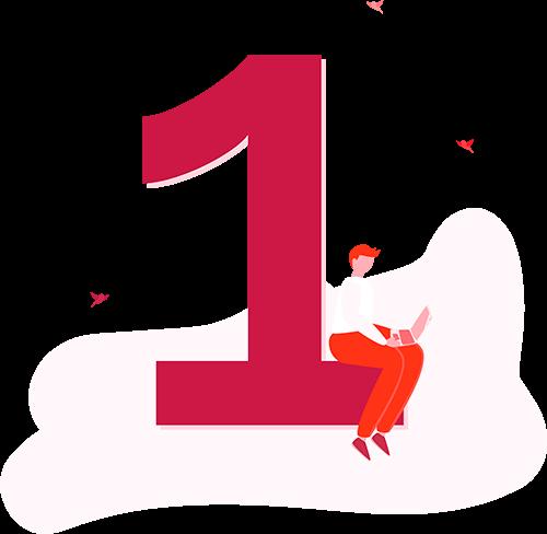 Illustration of number 1