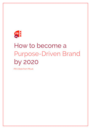 Cover of the e-book how to become a purpose driven brand in 2020.