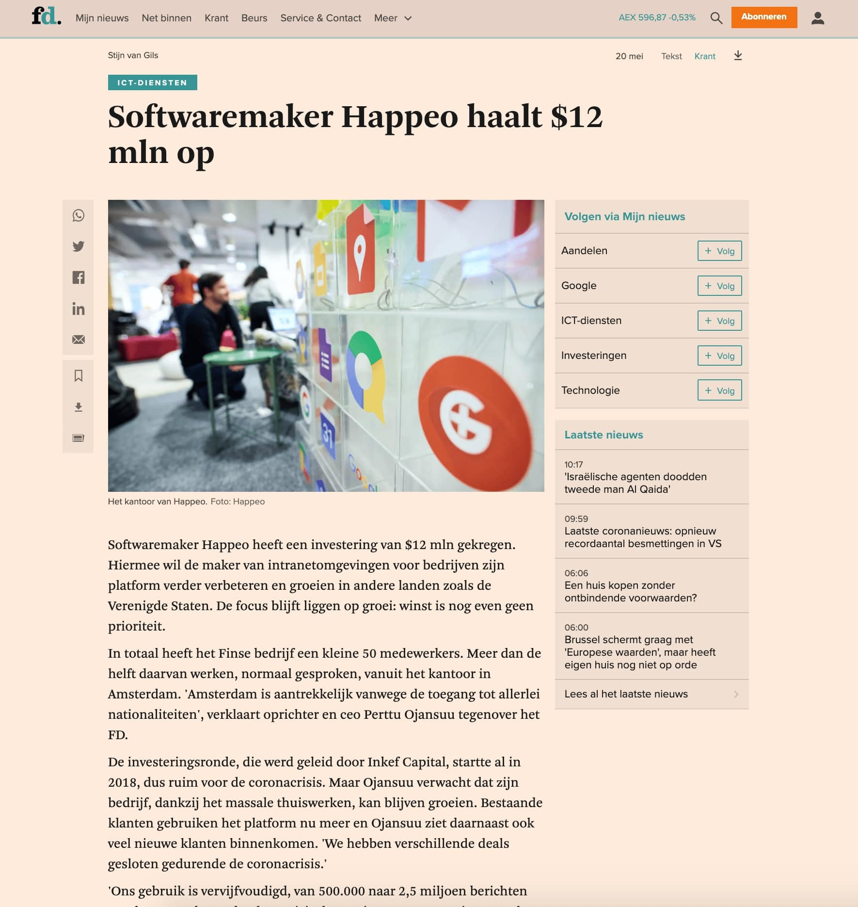 Article published at FD thanks to pr for startups in Europe