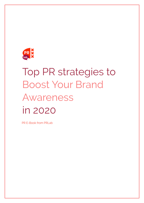 Illustration for the e-book top PR strategies to boost your brand awareness in 2020.