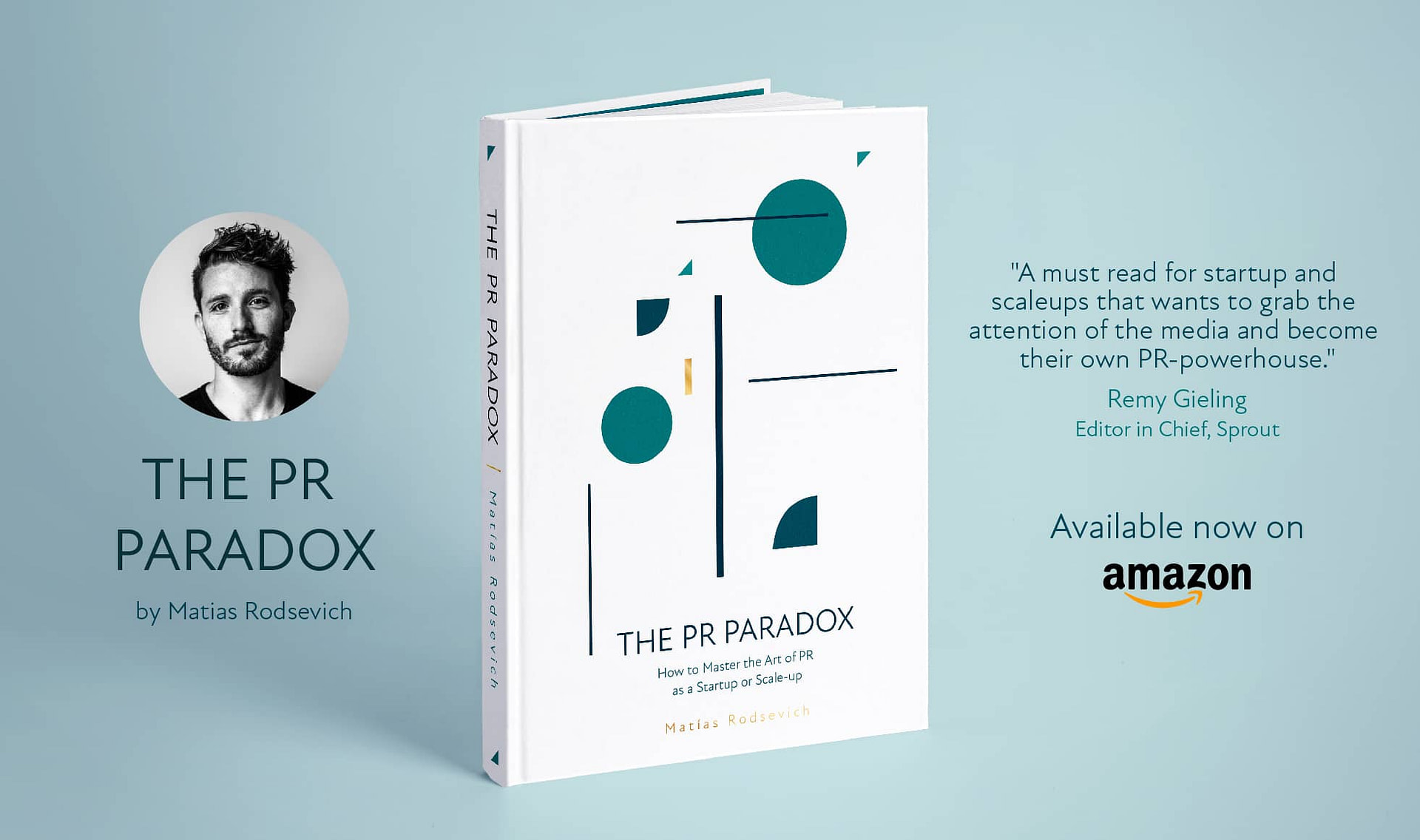 Banner for The PR Paradox, the first pr book, by Matias Rodsevich.