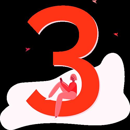 Illustration of number 3