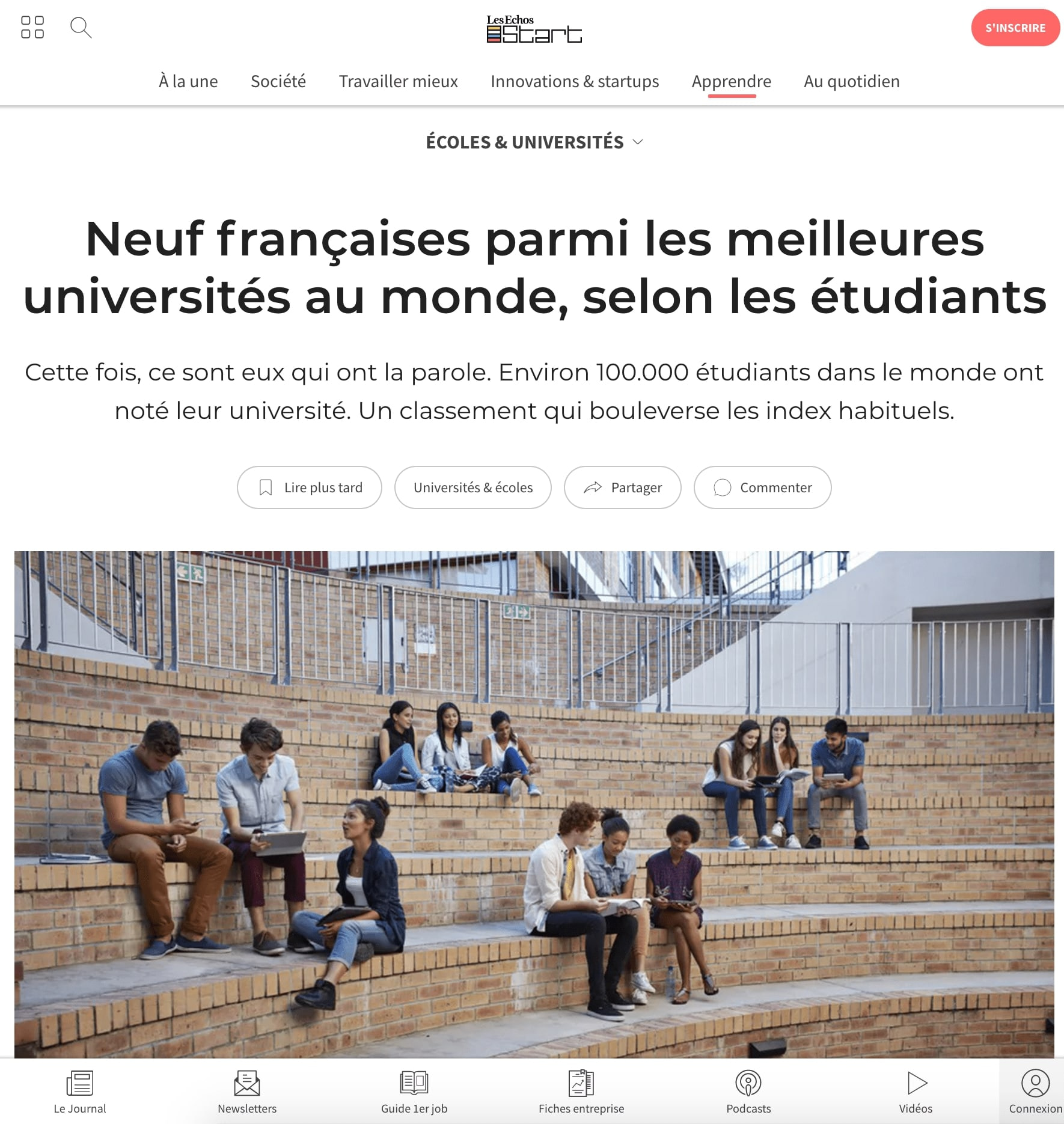 Article published at Les Echos thanks to our tech pr agency in Europe