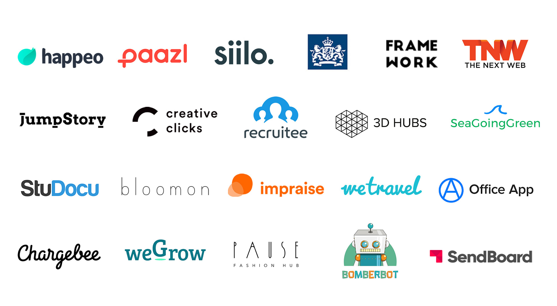 Logos of the clients of PRLab, the best PR firm in Amsterdam, Netherlands.