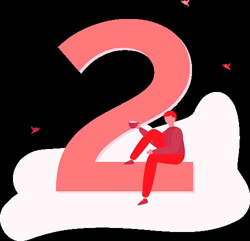 Illustration of number 2