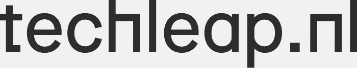 Techleap logo, example of content marketing strategy.