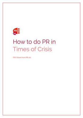 Illustration for the e-book how to do PR in times of crisis.