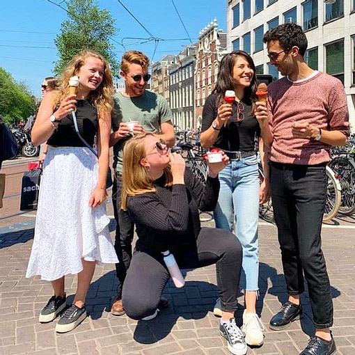 PR agency in amsterdam. The team on day off