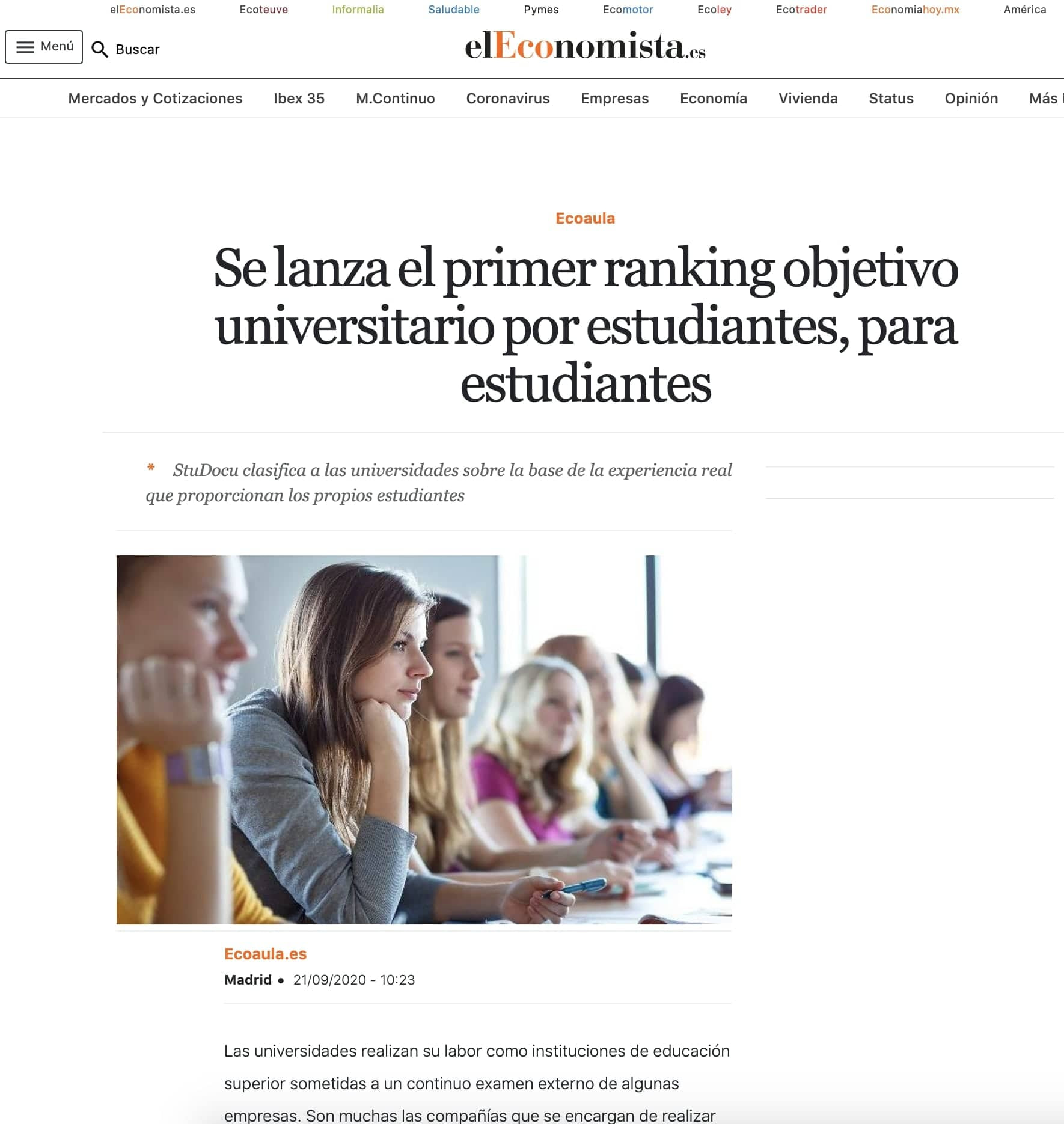 Article published at El Economista thanks to our tech pr agency for startups in Europe