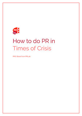 Cover voor ebook Hoe doe je PR in tijden van crisis
